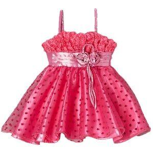 Hot Pink Hearts & Roses Dress